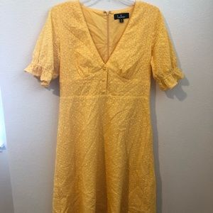 Lulus yellow a line dress